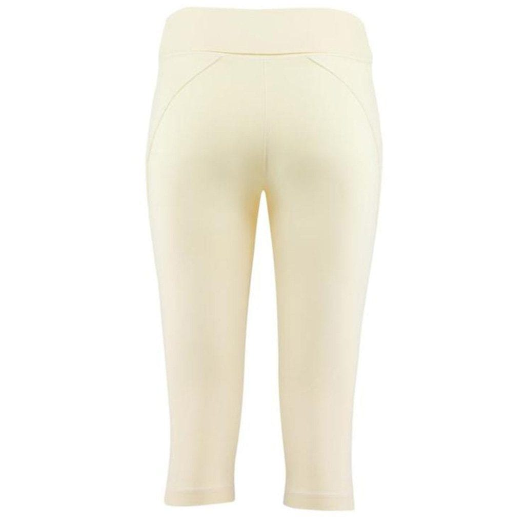 "Yoga-Leggings ""Anastacia"", vanilla - Capri Leggings mit Umschlagbund - Kamah Yoga and Style"