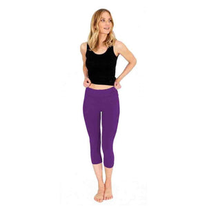 "Yoga-Leggings ""Lissy"", lilac - Superactive Capri Leggings - Kamah Yoga and Style"