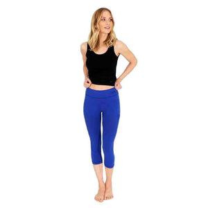 "Yoga-Leggings ""Lissy"", mediterraneo - Superactive Capri Leggings - Kamah Yoga and Style"