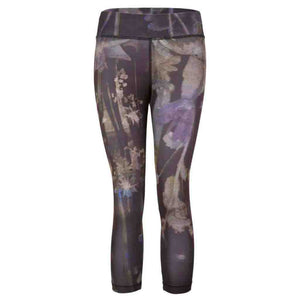"Yoga Leggings ""Paris"", Everglades - Stylish Capri Pants with Allover Print"