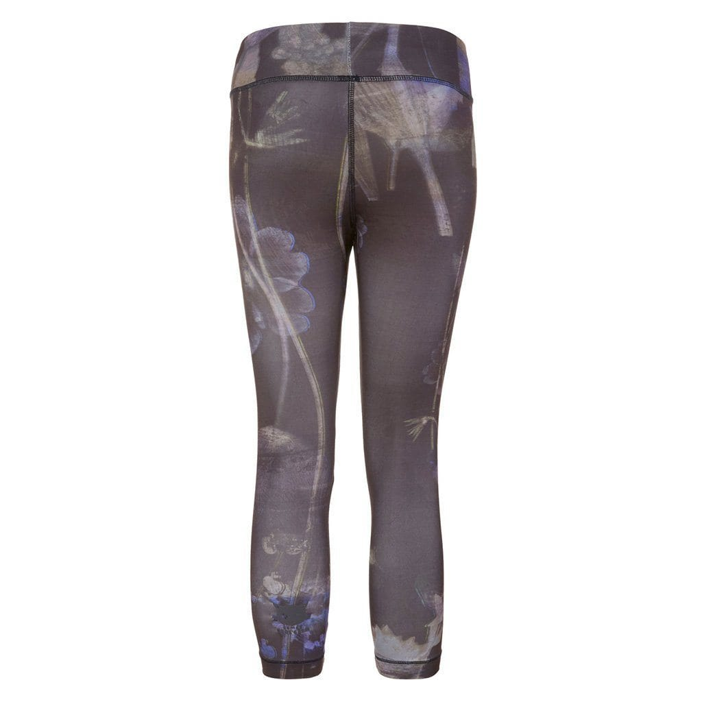 "Yoga-Leggings ""Paris"", Everglades - stylische Capri Pants mit Allover-Print - Kamah Yoga and Style"