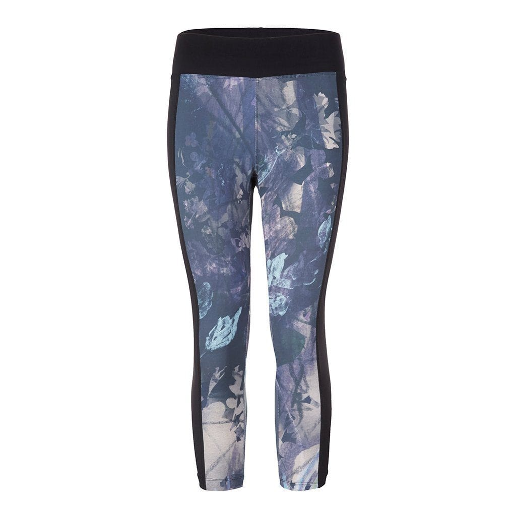 "Yoga-Leggings ""Polly"", Shang Li - Capri Leggings mit Allover Print - Kamah Yoga and Style"