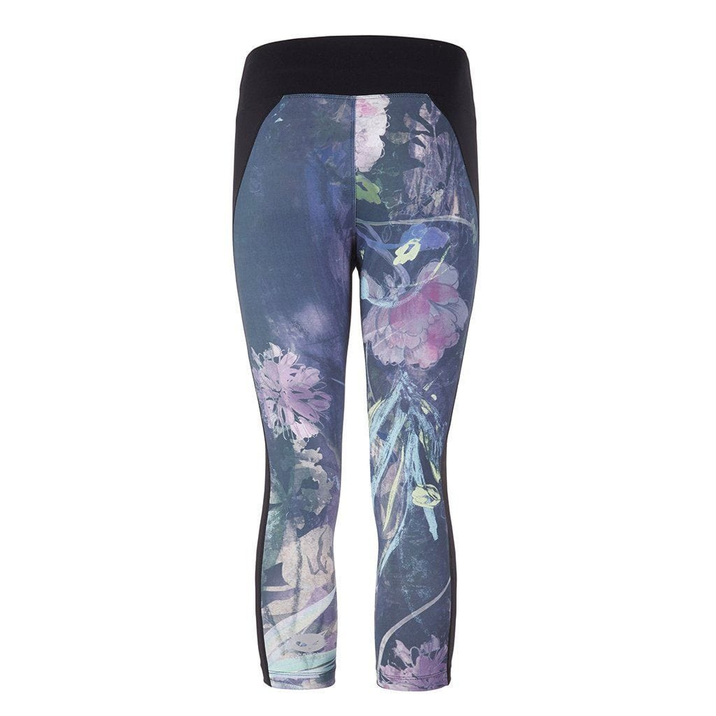 "Yoga Legging ""Polly"", Shang Li - Capri Leggings mit Allover Print - Kamah Yoga and Style"