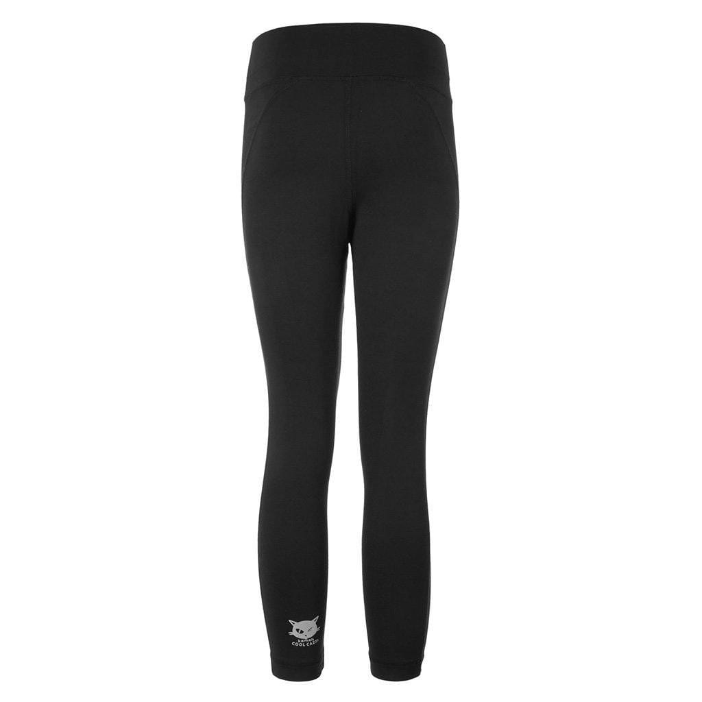 "Yoga Legging ""Polly"", black - Active Capri Pants mit hohem Elastikbund - Kamah Yoga and Style"