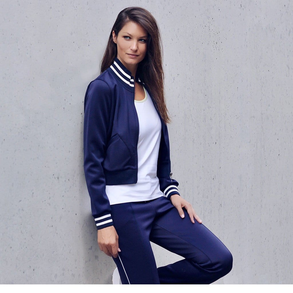 "Trendige Yoga Trainingsjacke ""Sheila"" in nighblue - Kamah Yoga and Style"