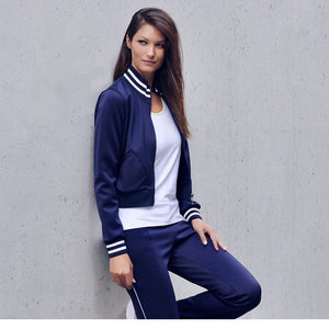 "Jacke ""Sheila"", nighblue - Trendige Trainingsjacke - Kamah Yoga and Style"