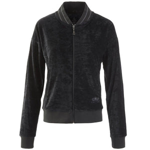 TIEN – Zipper Jacke aus Samt im Trainingsstil, Farbe: charcoal - Kamah Yoga and Style