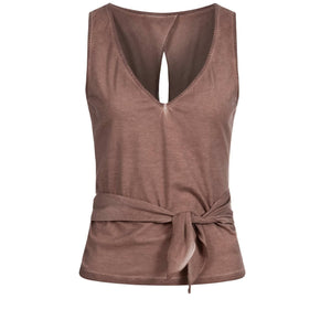 "Yoga wraptop ""Wendy"", nougat - Supersoft wrap top"