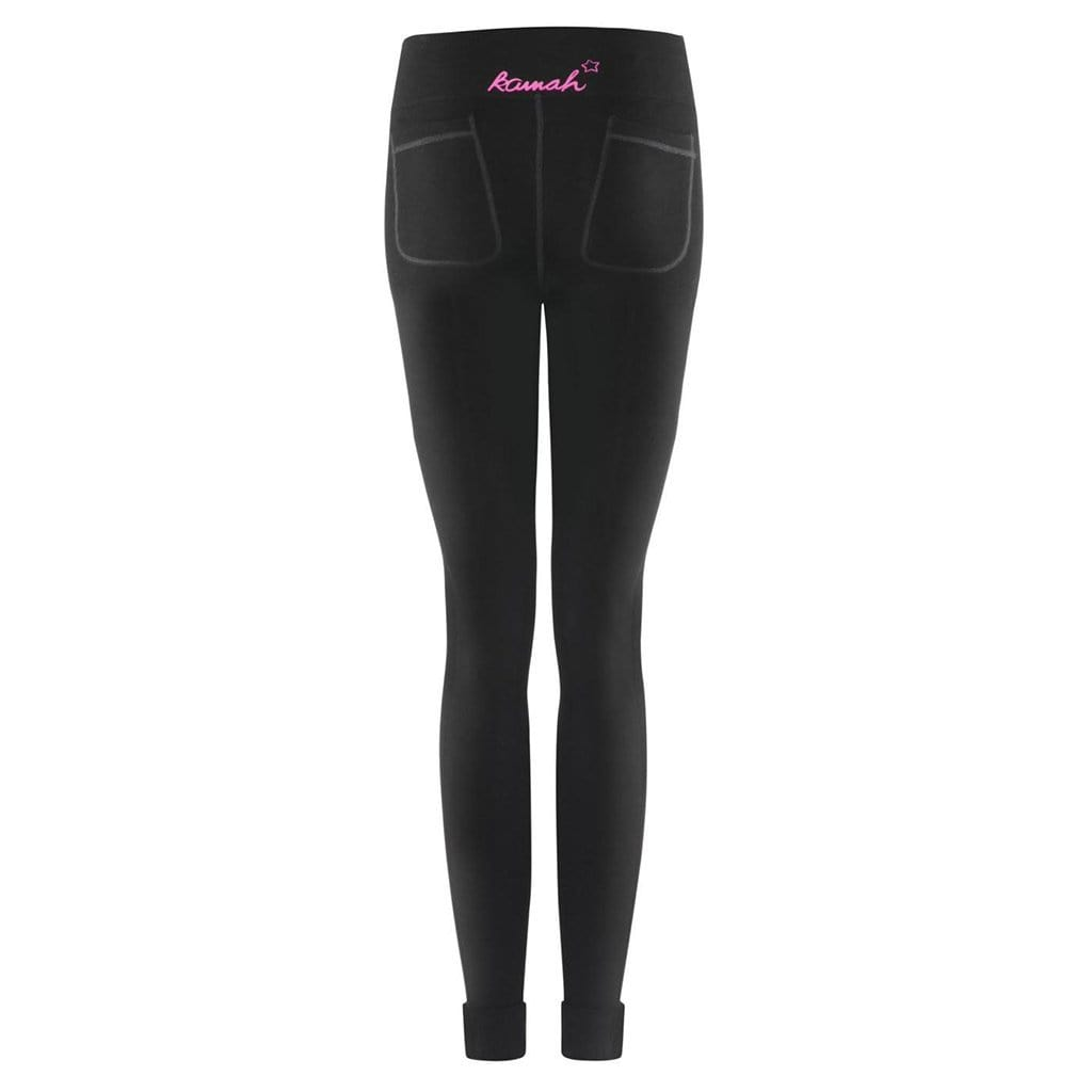 "Yoga-Leggings ""Liane"" - Supersofte Active Tights aus Bambus, Farbe: black - Kamah Yoga and Style"