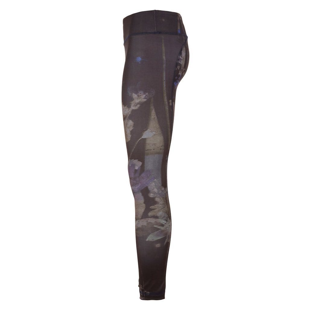 "Yoga-Leggings ""Panarea"", Everglades - Figurbetonte Active Tights in Allover Print - Kamah Yoga and Style"