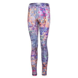 "PANAREA, Leggings, Allover Print ""Flowers"" - Kamah Yoga and Style"