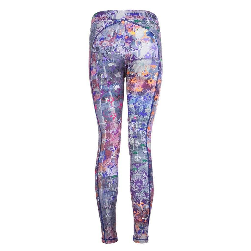 "Yogahose ""Panarea"", Flowers - Figurbetonte Active Tights in Allover Print - Kamah Yoga and Style"