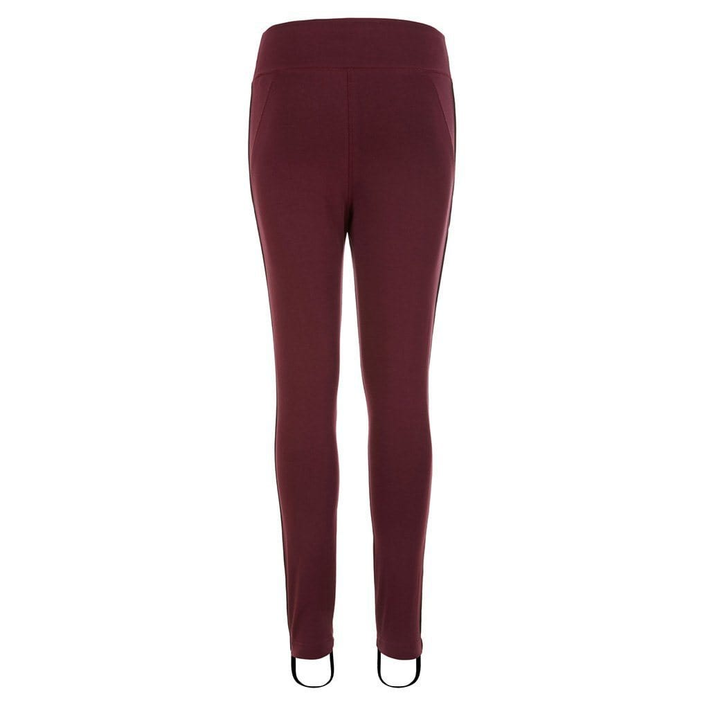 "Yoga Legging ""Radha"", port royale - Yogahose mit Steg - Kamah Yoga and Style"