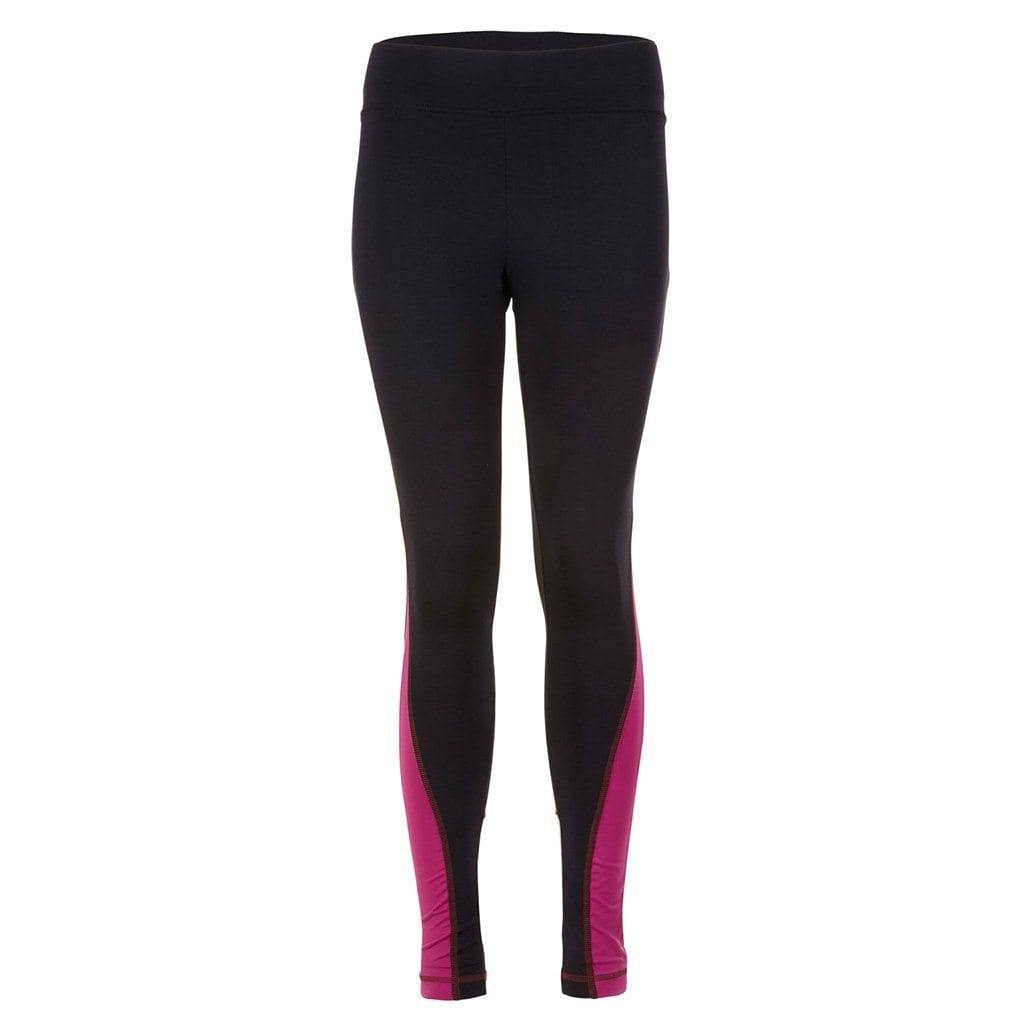 "Yoga-Leggings ""Roxy"", black/fuchsia/white - Active Tights mit Colour Blocking - Kamah Yoga and Style"