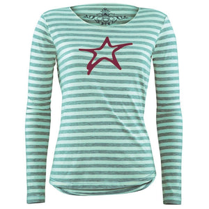 LAETITIA R, Longsleeve geringelt,  ice-green/offwhite - Kamah Yoga and Style