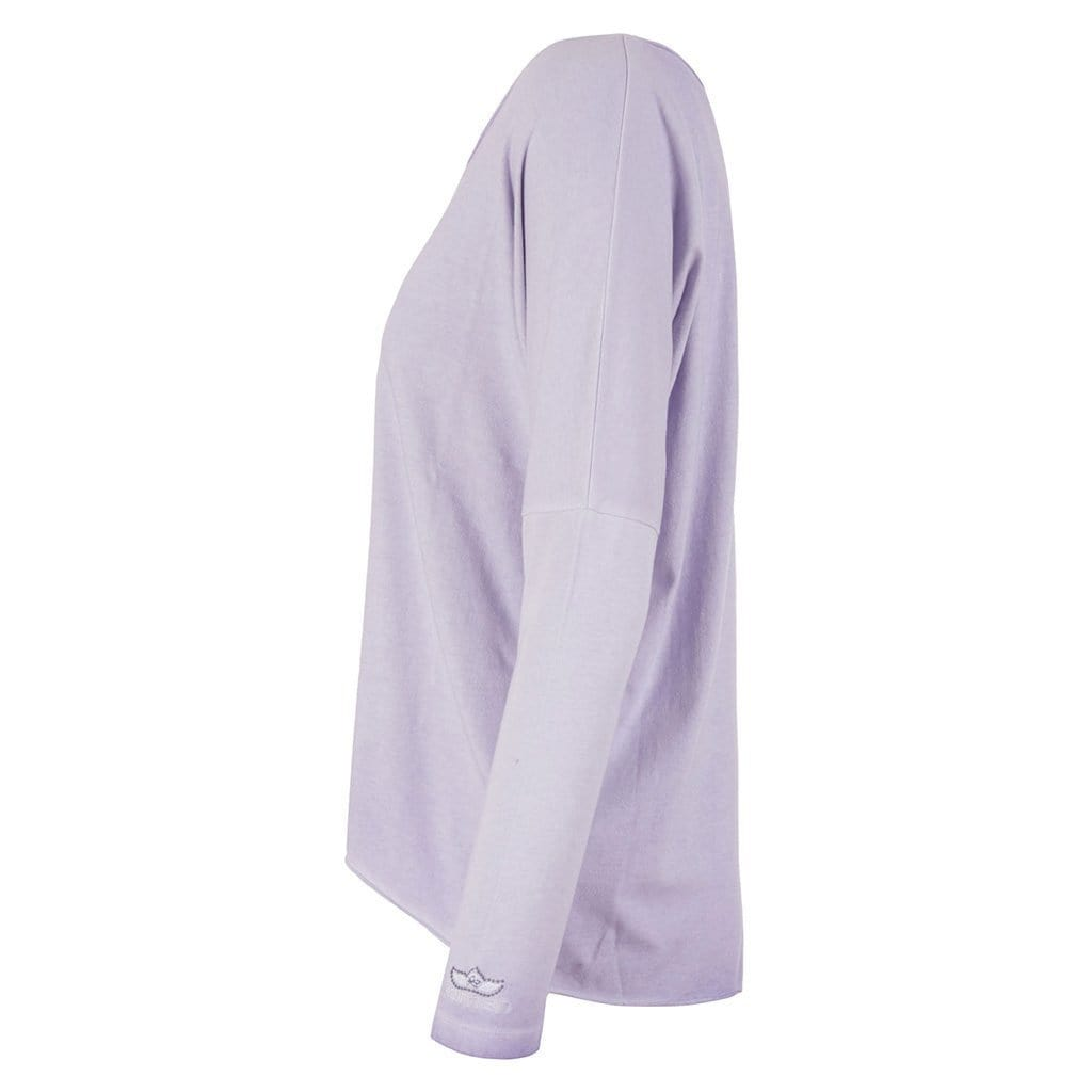 "Lounge shirt ""VALERIE"", pale violet - Casual basic long-sleeved shirt - Kamah Yoga and Style"