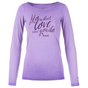 "Yoga-Shirt ""Olga"", neon purple - Superweiches Langarmshirt mit Print - Kamah Yoga and Style"