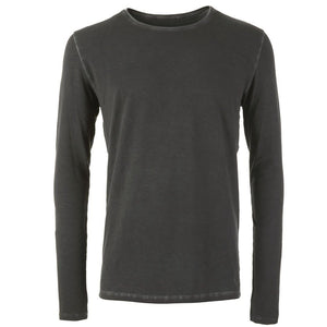 "Lounge-Shirt ""Simon"", dark gull - Superbequemes Herren Langarmshirt - Kamah Yoga and Style"