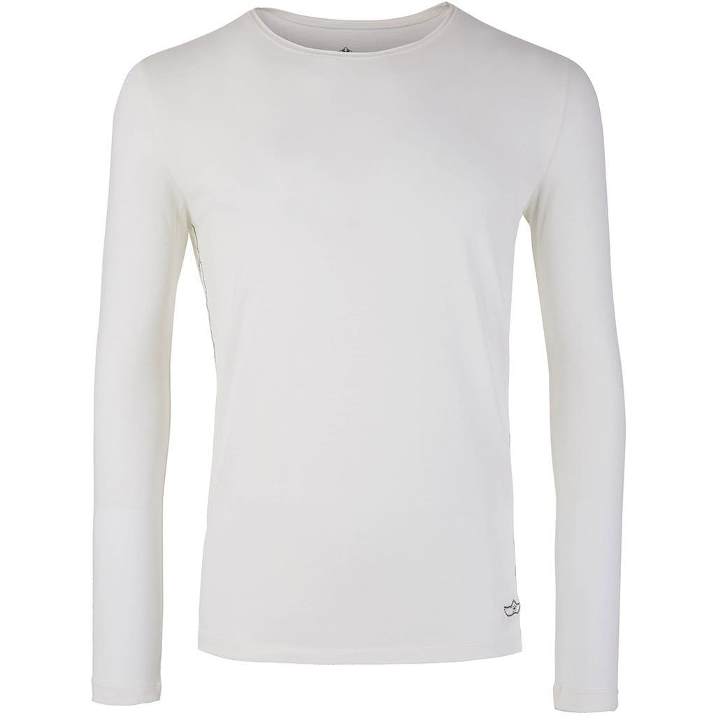 "Lounge-Shirt ""Simon"", offwhite - Superbequemes Herren Langarmshirt - Kamah Yoga and Style"