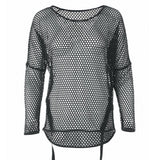 "Yoga-Top ""Sungela"", black - Pullover aus Mesh - Kamah Yoga and Style"