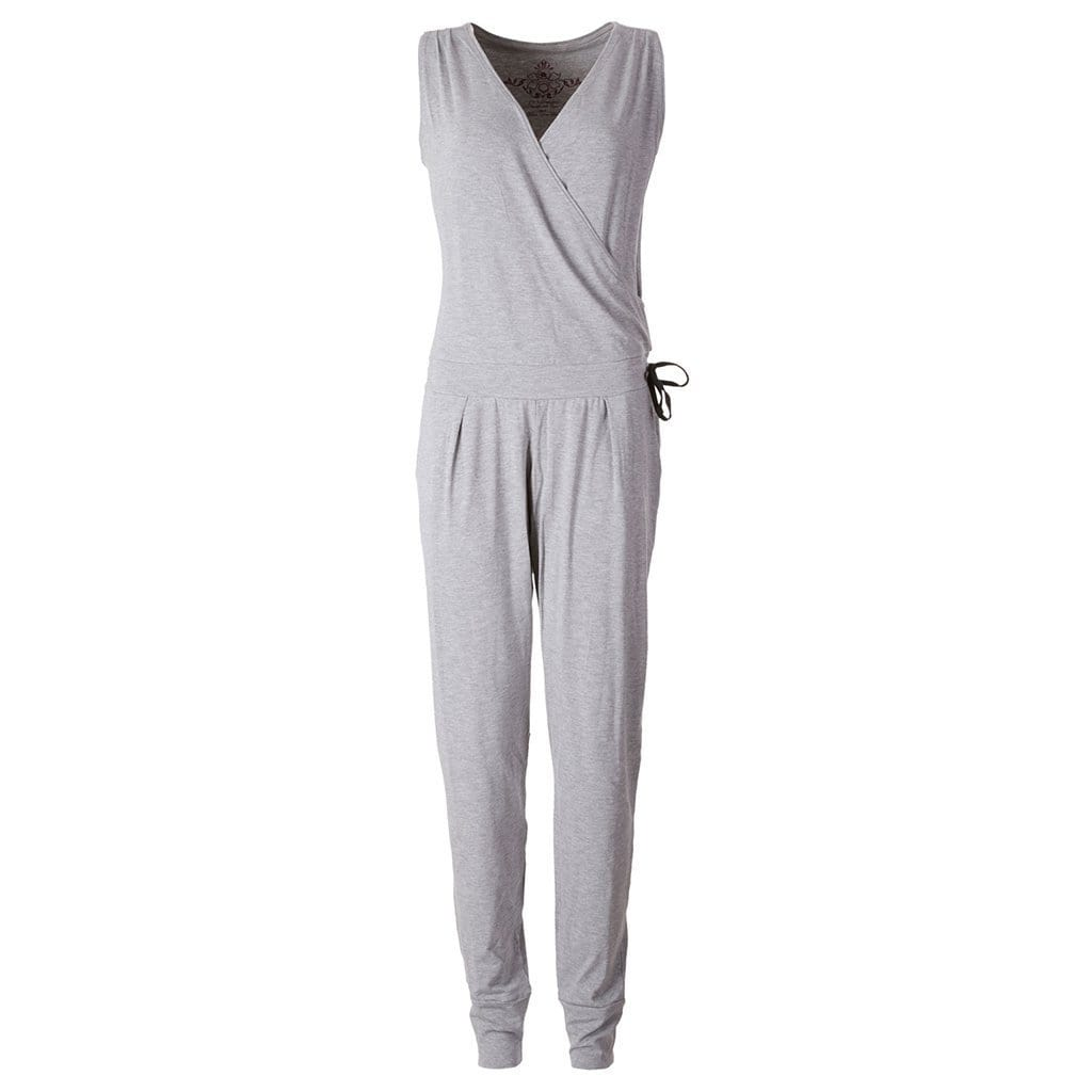 "Yoga Jumpsuit ""Lakshmi"", greymelange - Supersofter Overall - Kamah Yoga and Style"