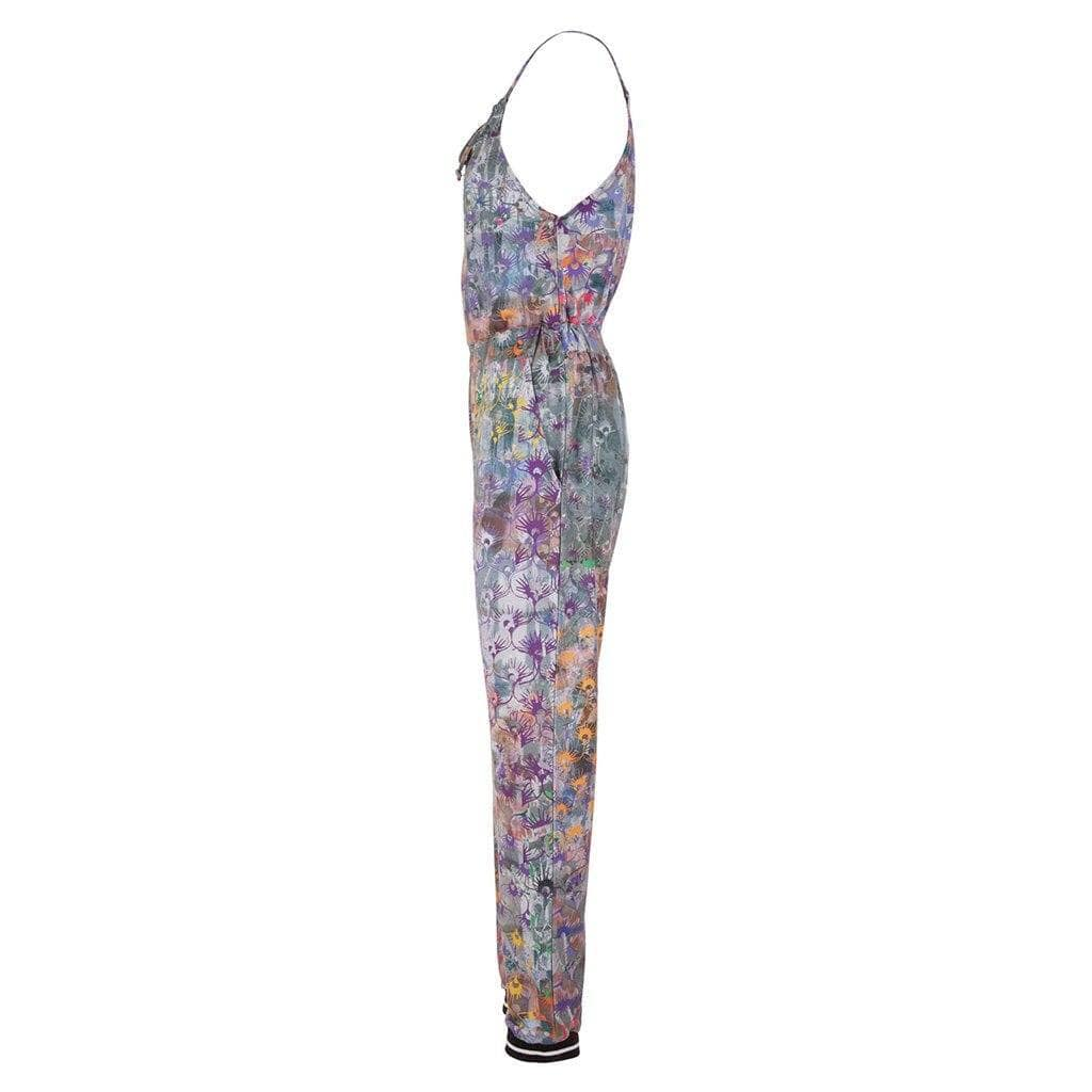 "Yoga-Jumpsuit ""Pamina"", Flowers - Overall mit Allover - Print - Kamah Yoga and Style"