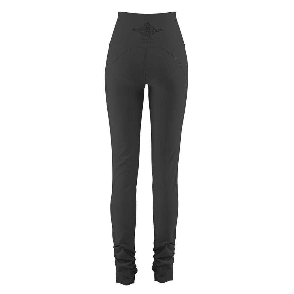 "Yoga-Leggings ""Cameron"", charcoal - Yogahose mit hohem Bund - Kamah Yoga and Style"