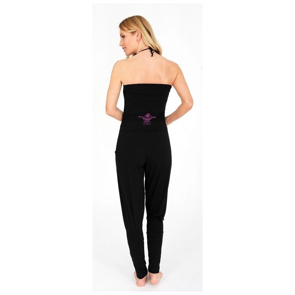 "Yoga-Jumpsuit ""Fiona"", charcoal - Multifunktionaler Overall - Kamah Yoga and Style"