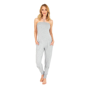 "Yoga Jumpsuit ""Fiona"", greymelange - Multifunktionaler Overall - Kamah Yoga and Style"