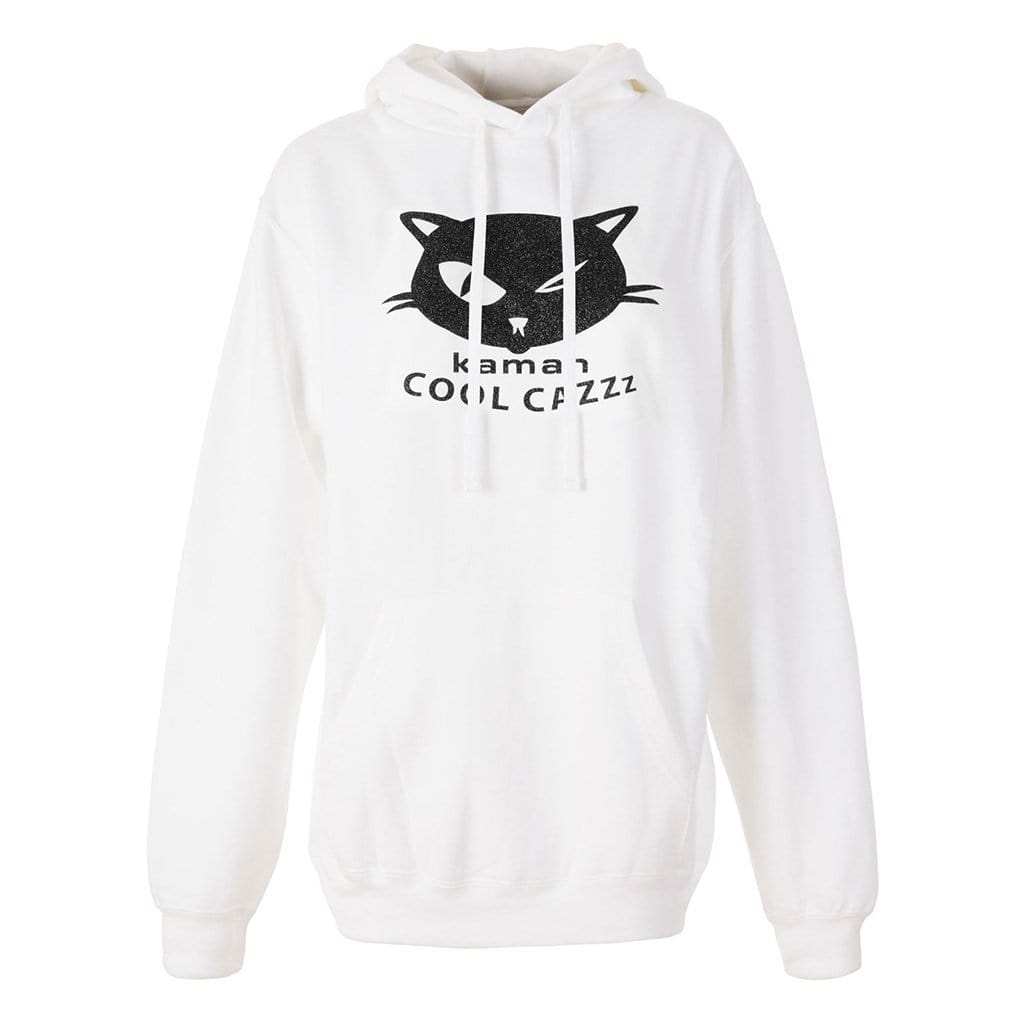 "Hoodie ""Thor"", white/black - Stylisches Sweatshirt mit Logo -Print - Kamah Yoga and Style"