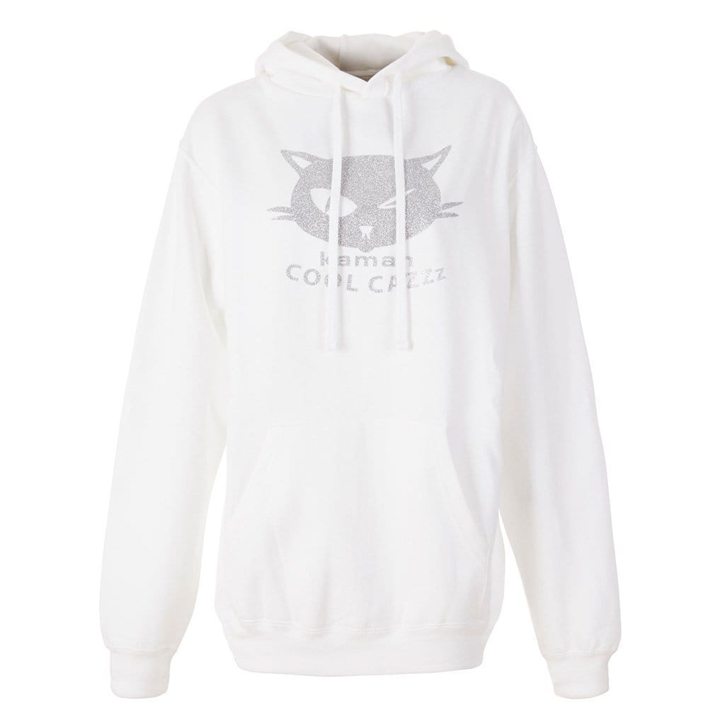"Hoodie ""Thor"", white/silver - Stylisches Sweatshirt mit Logo -Print - Kamah Yoga and Style"