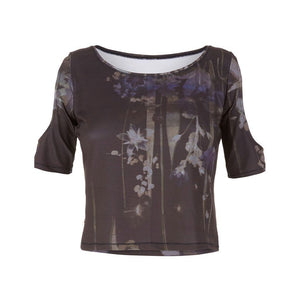"RAFFAELA - Kurzshirt, Farbe: Allover-Print ""Everglades"" - Kamah Yoga and Style"