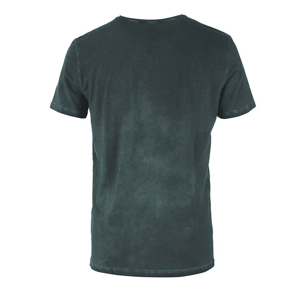 "Lounge-Shirt ""Sabu"", black forest – Lässiges Basic Herren - Shirt - Kamah Yoga and Style"