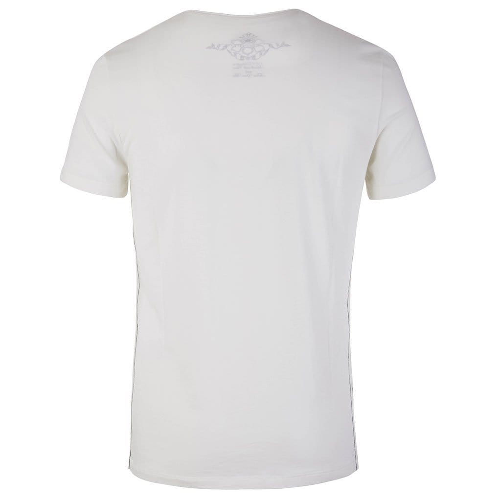 "Lounge-Shirt ""Sabu"", offwhite– Lässiges Basic Herren - Shirt - Kamah Yoga and Style"