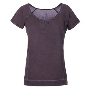 LASHANA - T-Shirt, Farbe: charcoal (piece dye) - Kamah Yoga and Style