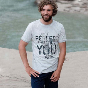 "Yoga-Shirt ""Tao"", stone - T-Shirt mit Statement-Print - Kamah Yoga and Style  Alternativen Text bearbeiten"