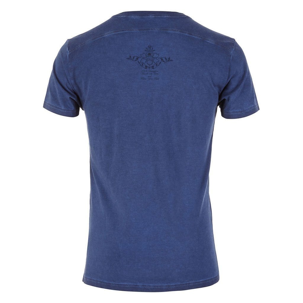 "Lounge-Shirt ""Tasso"", blue - Lässiges Herren-Shirt mit Print - Kamah Yoga and Style"