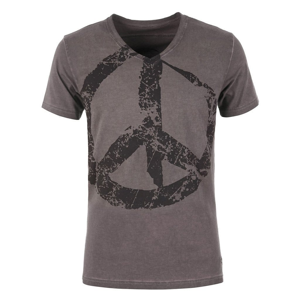 "Lounge-Shirt ""Tasso"", dark gull - Lässiges Herren-Shirt mit Print - Kamah Yoga and Style"
