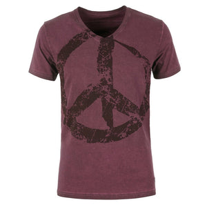 "Lounge-Shirt ""Tasso"", port royal - Lässiges Herren-Shirt mit Print - Kamah Yoga and Style"