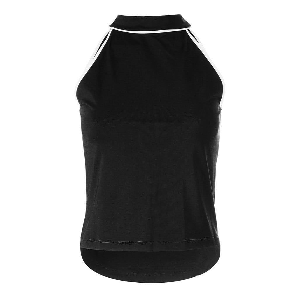 "Yoga-Top ""Samelia"", black/white - Schnelltrocknenedes Acitive Top aus Funktionsmaterial - Kamah Yoga and Style"