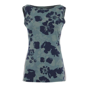 "MARY - Tank, Farbe: AO-Print ""Camouflowers"" - Kamah Yoga and Style"