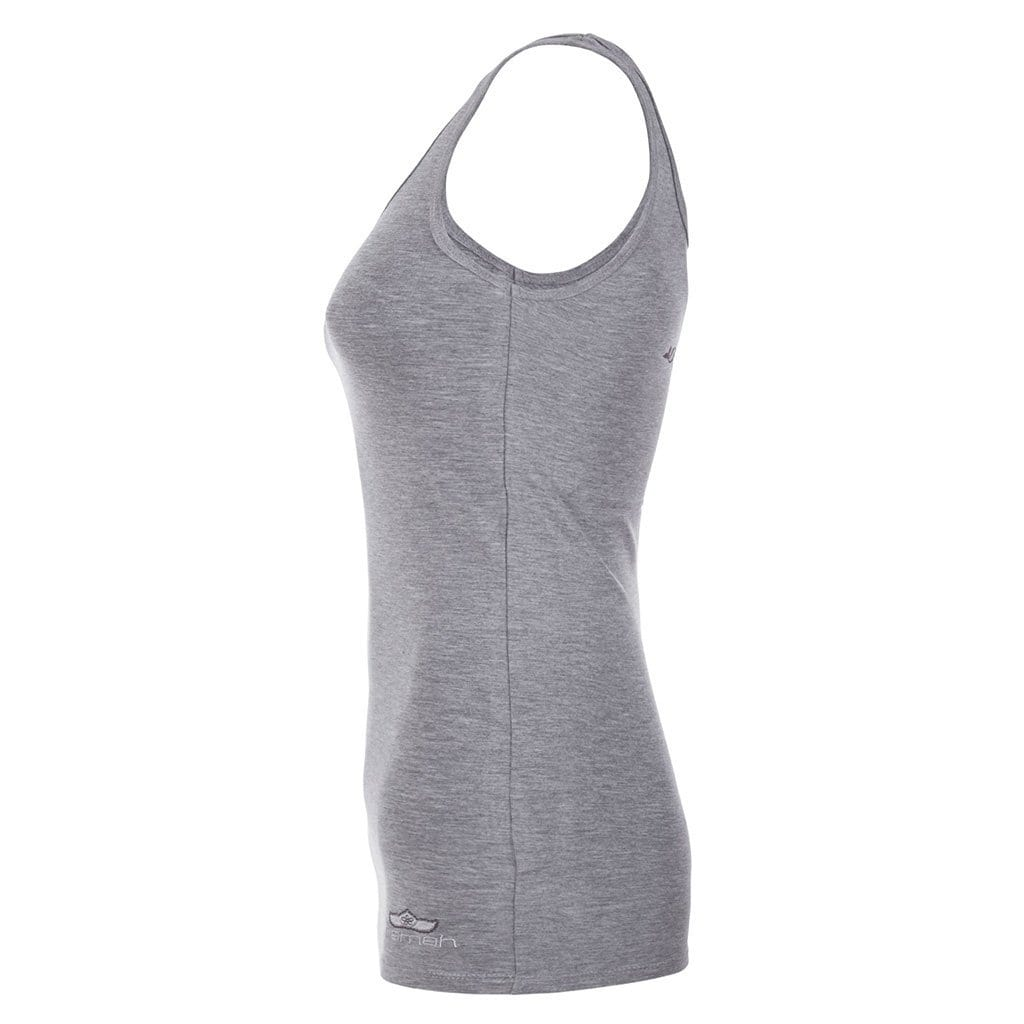 "Yoga-Top ""Erin"", greymelange - Supersoftes Basic Tanktop - Kamah Yoga and Style"
