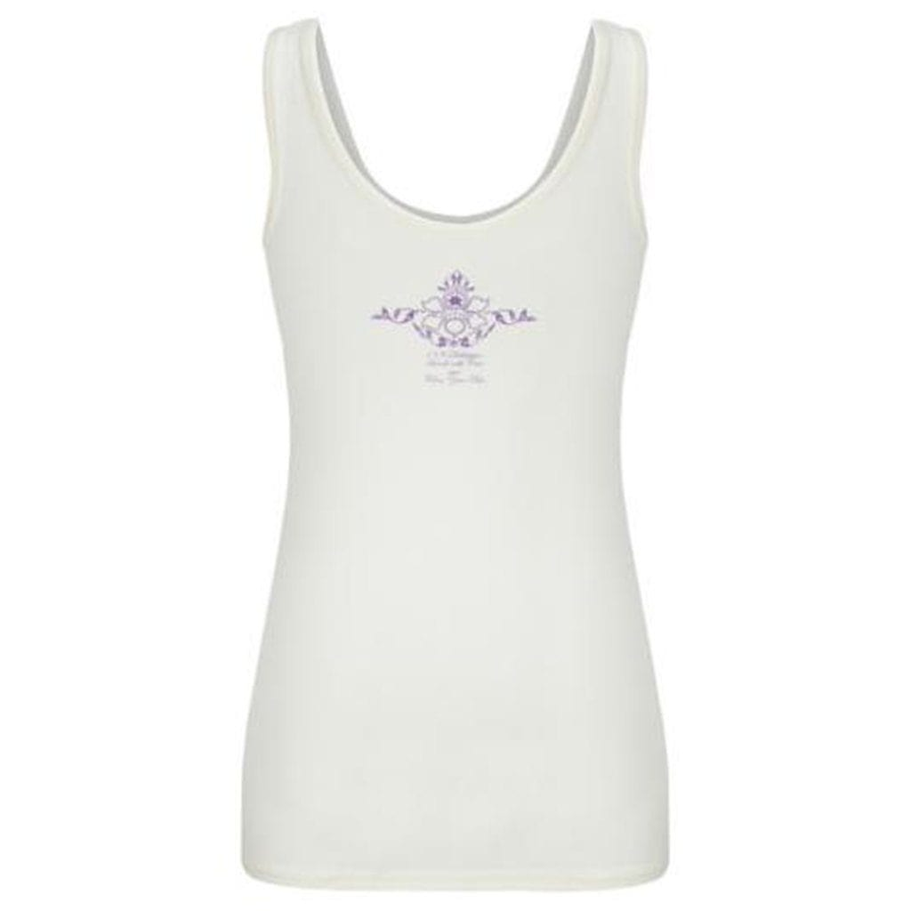"Yoga-Top ""Erin"", white - Supersoftes Basic Tanktop - Kamah Yoga and Style"