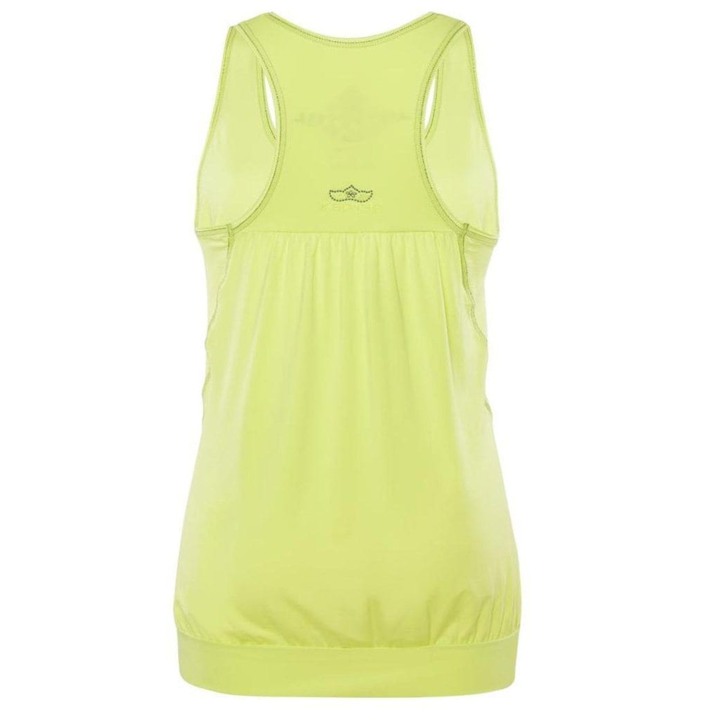 "Yoga top ""Iris"", lime - tank top with a loose fit - Kamah Yoga and Style"