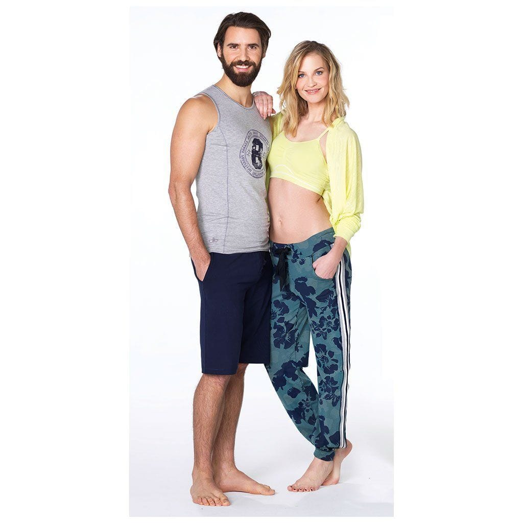 "Yoga-Top ""Till"", greymelange - Herren-Shirt mit perfekter Passform - Kamah Yoga and Style"