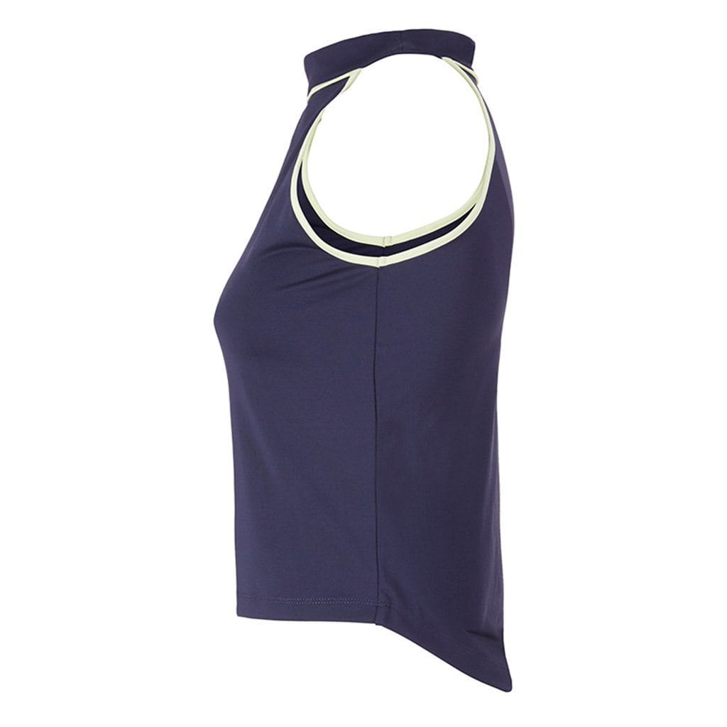 SAMELIA - schulterfreies Top, Farbe: nightblue/butterfly - Kamah Yoga and Style