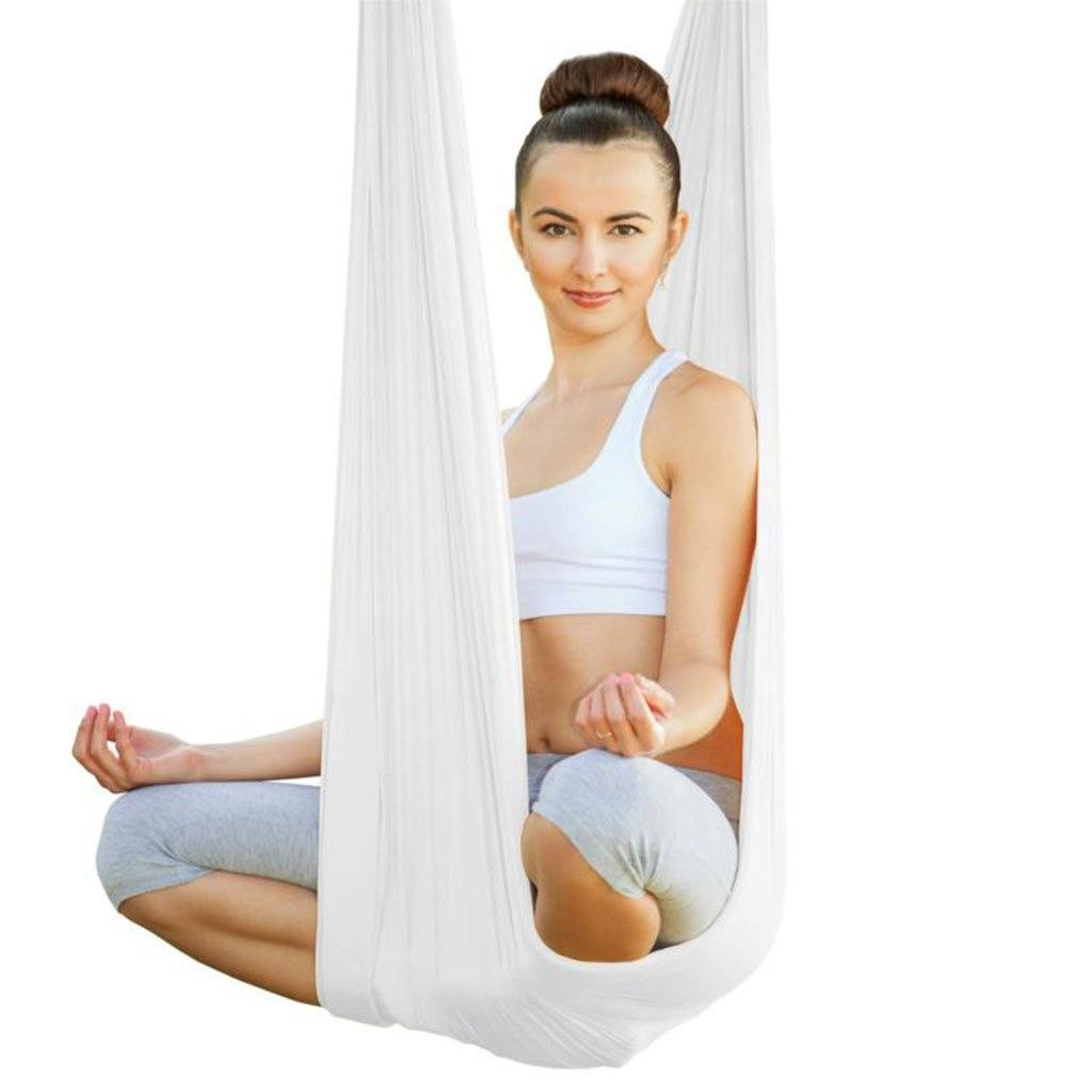 Aerial Yoga Tuch, white - Kamah Yoga and Style