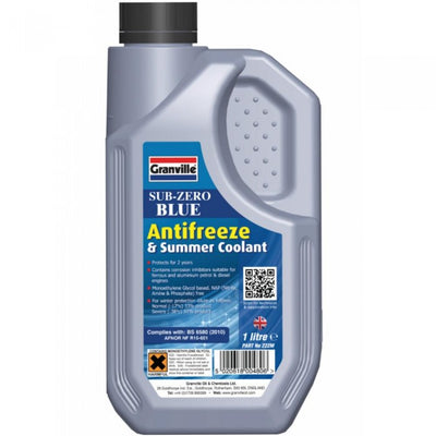 Granville Sub-Zero Blue Antifreeze & Summer Coolant 1 Litre
