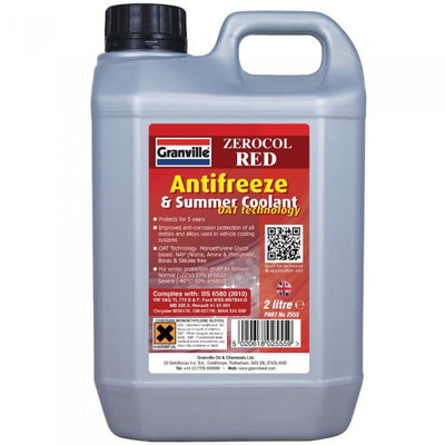 Granville Zerocol Red Antifreeze & Summer Coolant 2 Litre