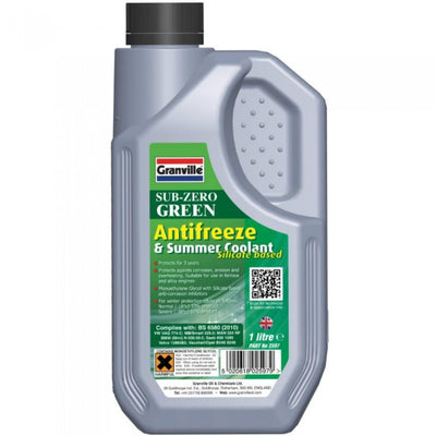 Granville Sub-Zero Green Antifreeze & Summer Coolant 1 Lire